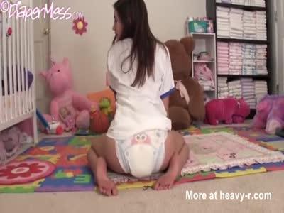 Females masturbate in adult diapers femdom porn