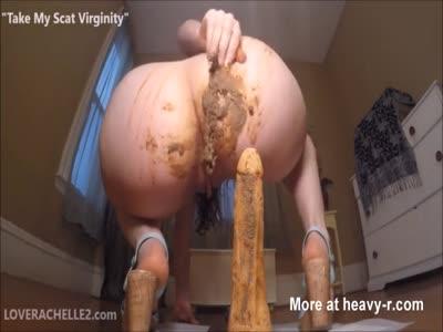 Shitting a dildo