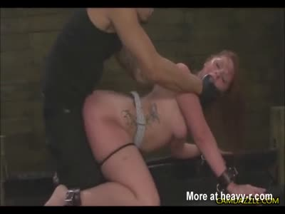 Tied up girl gets anal — img 5