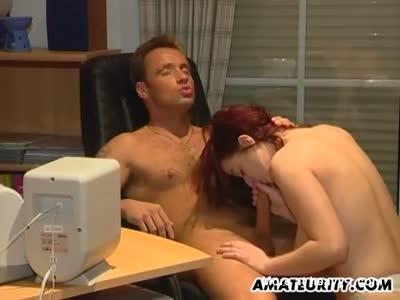 Homemade office porn